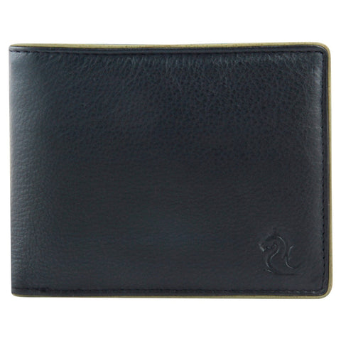 14056 Black & Green Bifold Wallet