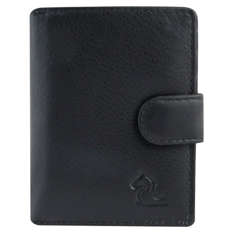 14044 Black Leather Card Holder for Men and Women