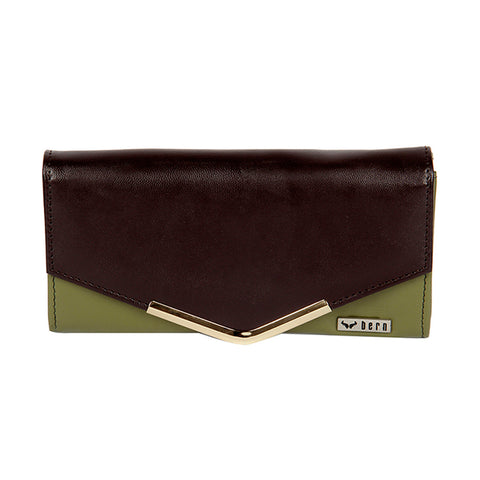 RNW-005 Brown & Olive Bifold Wallet