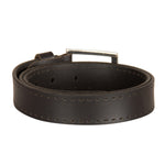 4121 Black Leather Belt for Men