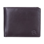 10078 Brown & Blue Bifold Wallet
