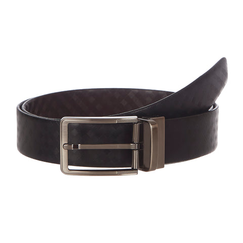 4224 Black & Brown Reversible Textured Belt