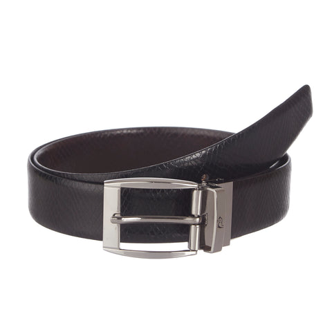 4225 Black & Brown Reversible Textured Belt
