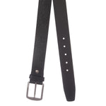 4240 Black Textured Leather Belt for Men