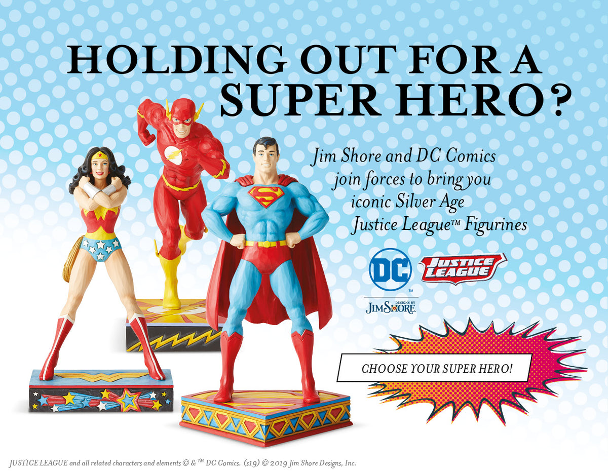 NEW Justice League Figurines from DC Comics by Jim Shore