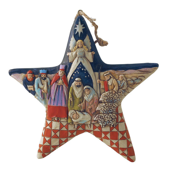 Heartwood Creek by Jim shore Nativity Star - Hanging Ornament