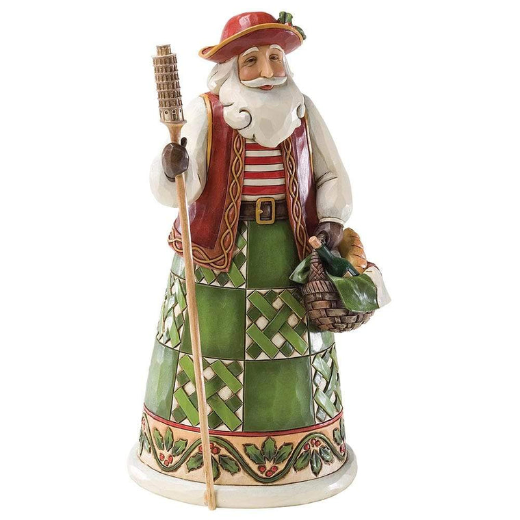 Greetings from Babbo Natale - Italian Santa Figurine - Heartwood Creek by Jim Shore