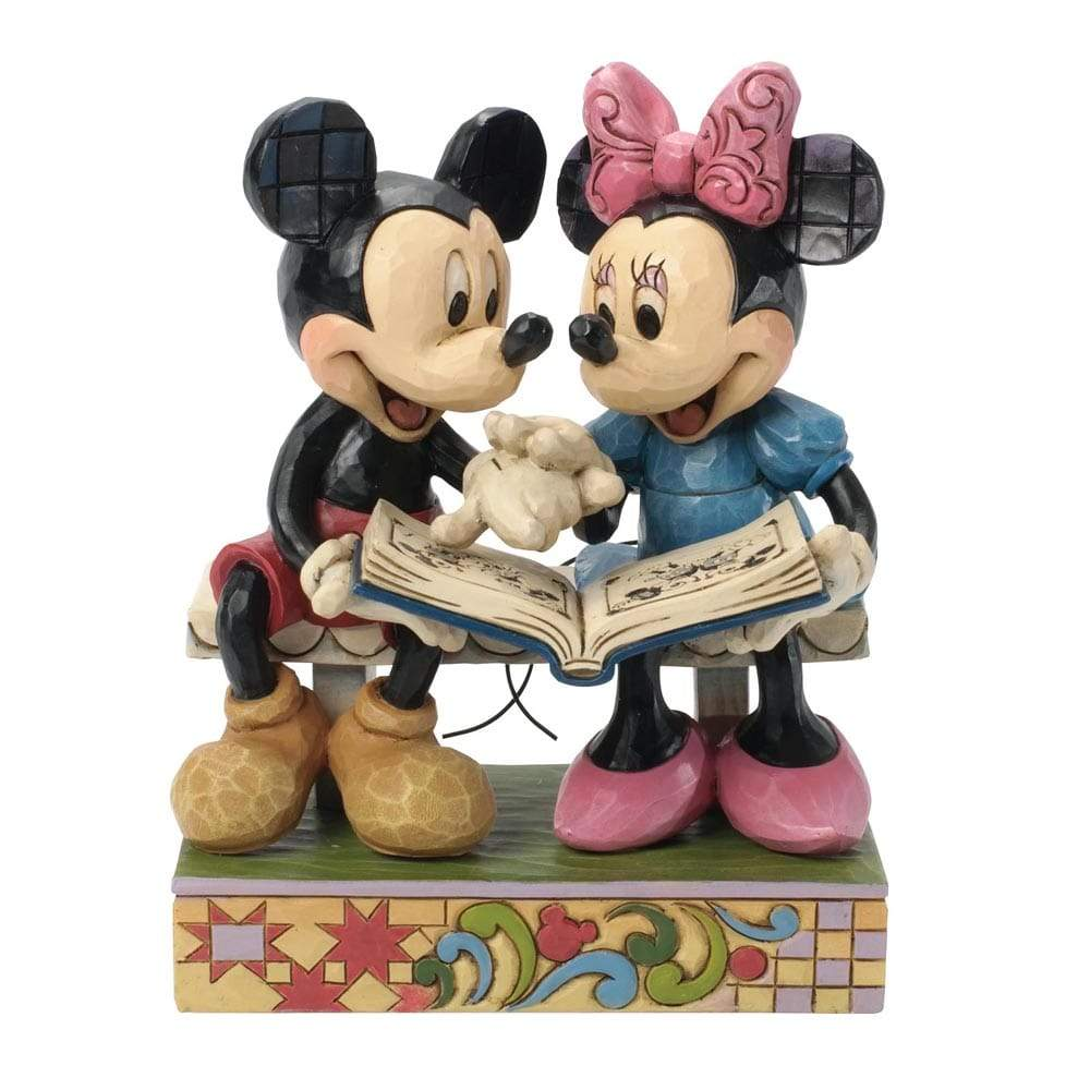 Disney Traditions by Jim Shore Sharing Memories - Mickey & Minnie Mouse 85th Anniversary Figurine - UK & EIRE WEBSITE EXCLUSIVE