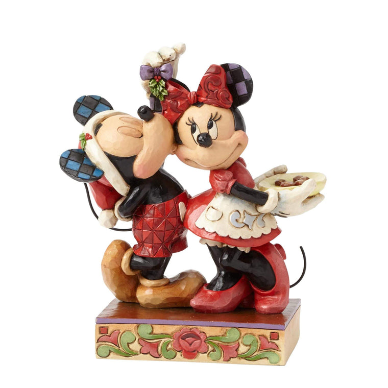 Disney Traditions by Jim Shore Under the Mistletoe - Mickey & Minnie - Website Exclusive