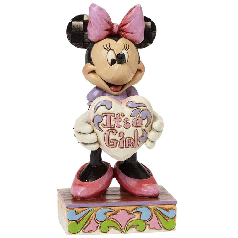 It's A Girl - Minnie Mouse Figurine- Disney Traditions by Jim Shore