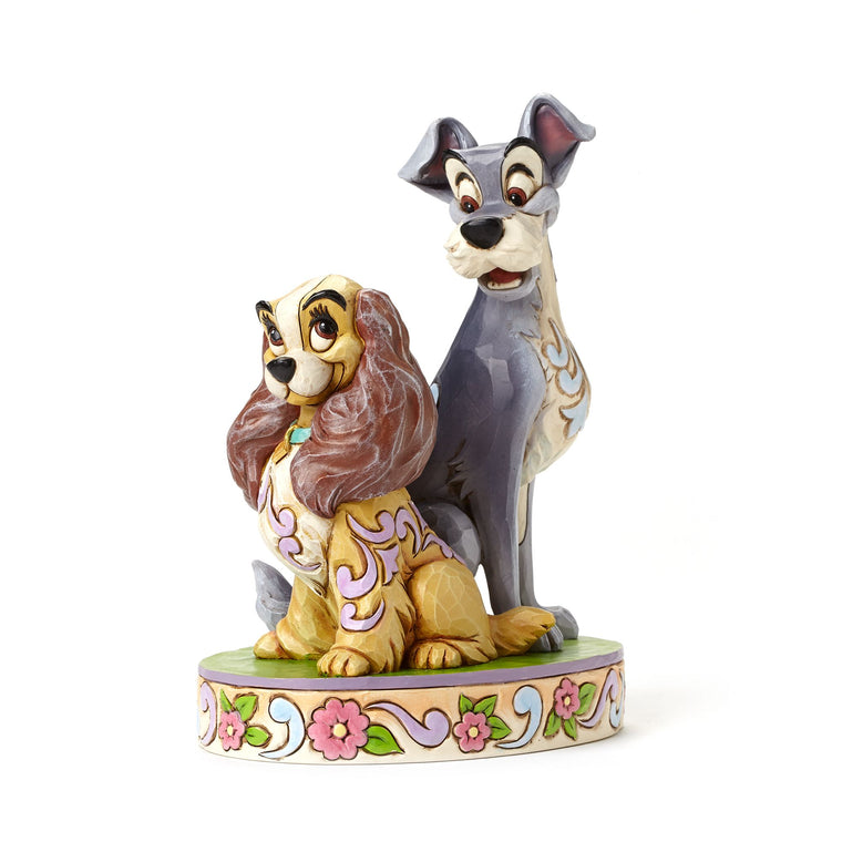 Opposites Attract - Lady and The Tramp 60th Anniversary Figurine - Disney Traditions by Jim Shore