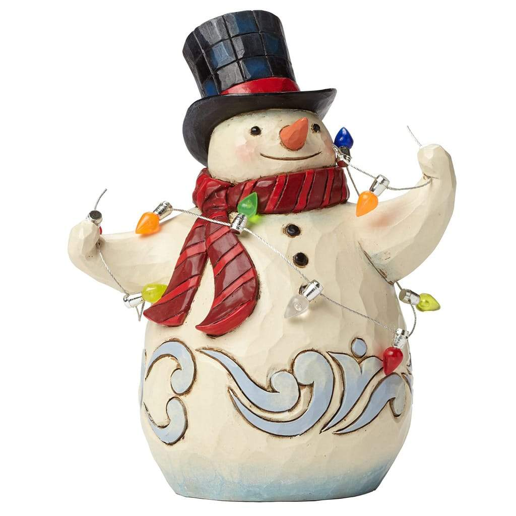 Snowman Wrapped Figurine - Heartwood Creek by Jim Shore