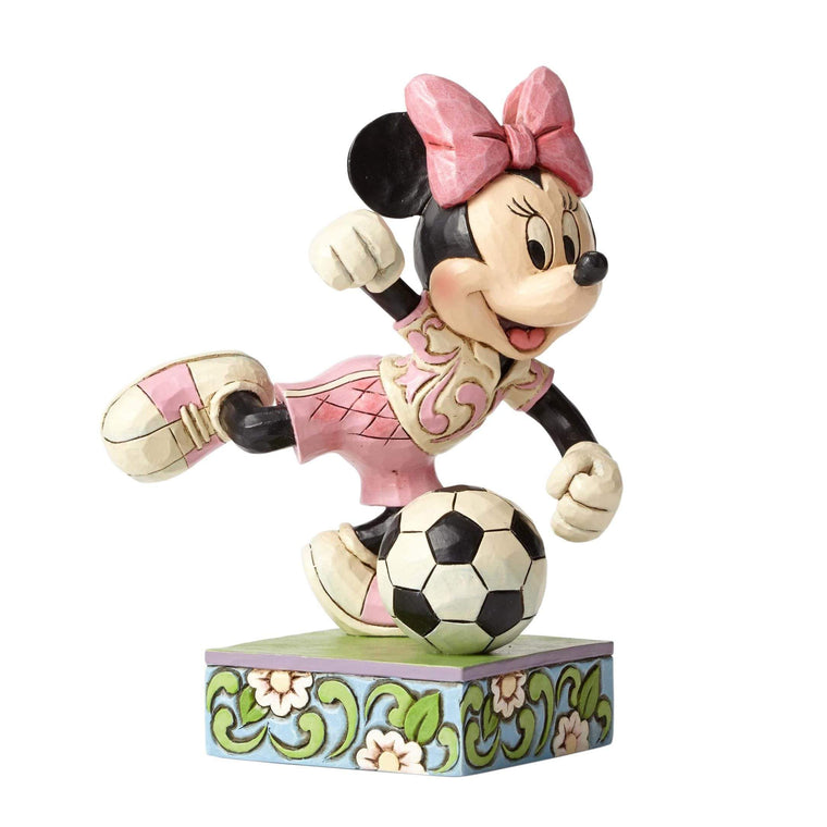 Disney Traditions by Jim Shore Goal! - Minnie Mouse Figurine - Website Exclusive