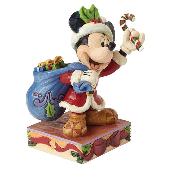 Disney Traditions by Jim Shore Bringing Holiday Cheer - Mickey Mouse Figurine