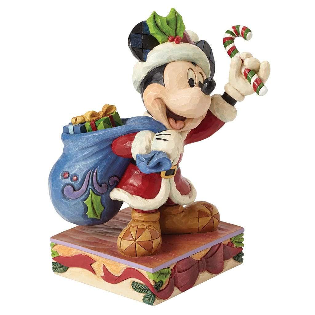 Disney Traditions by Jim Shore Bringing Holiday Cheer - Mickey Mouse Figurine - UK & Eire Website Exclusive