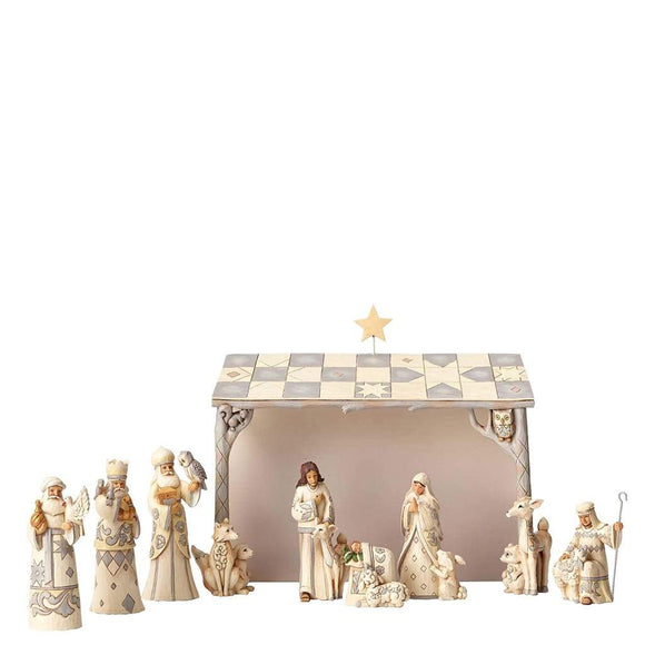 Heartwood Creek by Jim Shore White Woodland Nativity (8 Piece Set)
