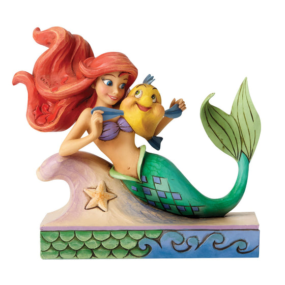 Disney Traditions by Jim Shore Fun and Friends - Ariel with Flounder Figurine