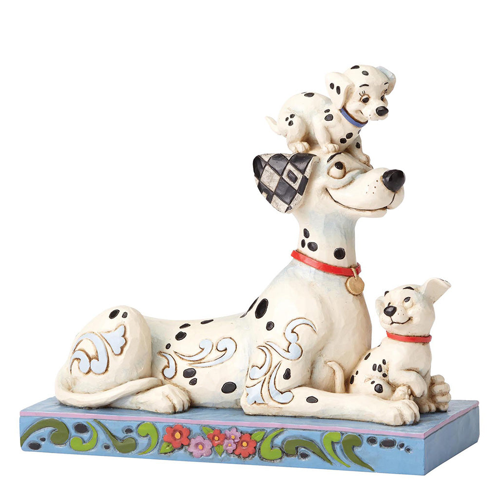 Disney Traditions by Jim Shore Puppy Love - Pongo with Penny & Rolly 55th Anniversary Piece