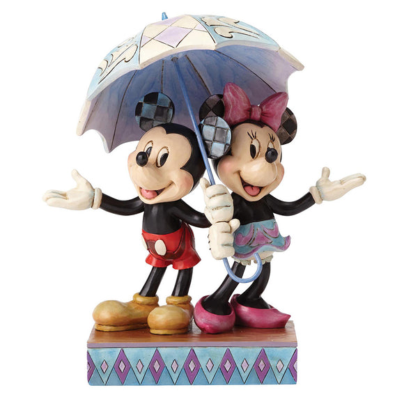 Disney Traditions by Jim Shore Rainy Day Romance - Mickey & Minnie Mouse Figurine
