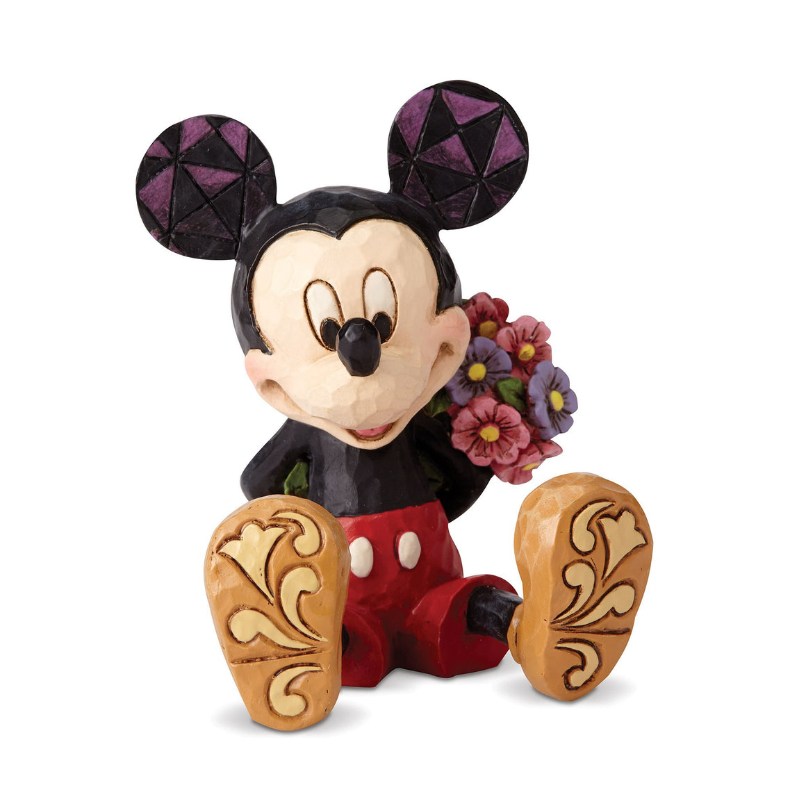 Mickey Mouse with Flowers Mini Figurine - Disney Traditions by Jim Shore