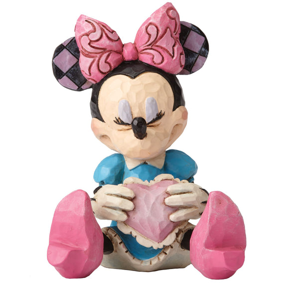 Minnie Mouse with Heart Mini Figurine - Disney Traditions by Jim Shore