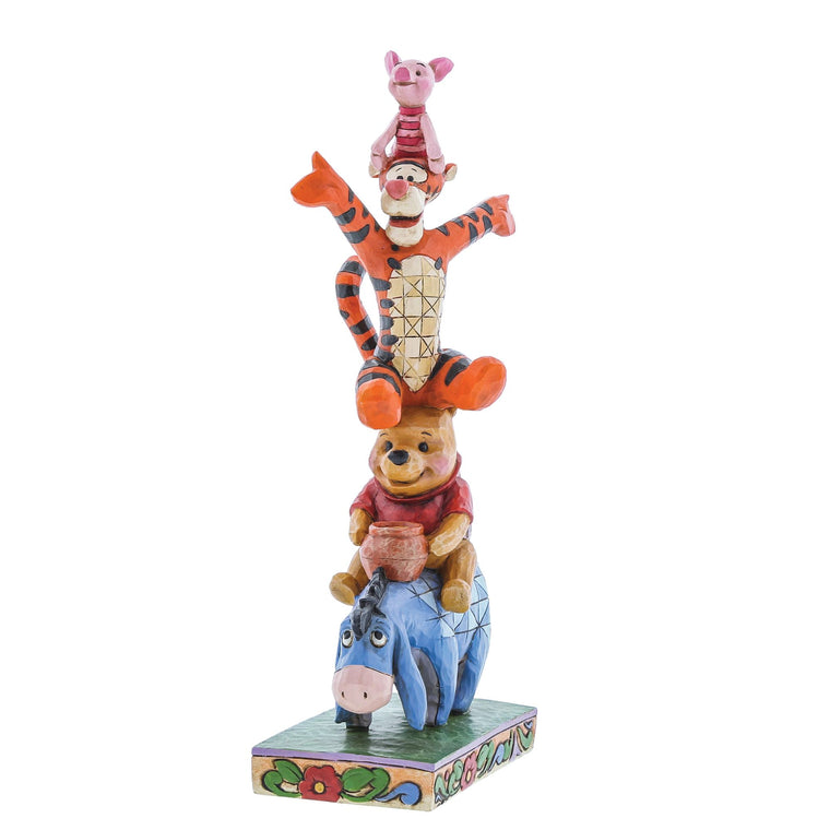 Disney Traditions by Jim Shore Built By Friendship - Eeyore, Pooh, Tigger & Piglet Figurine