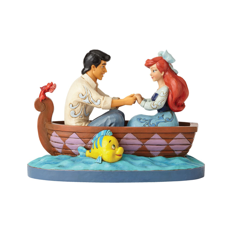 Waiting For A Kiss - Ariel and Prince Eric Figurine - Disney Traditions by Jim Shore