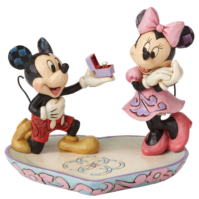 A Magical Moment - Mickey Proposing to Minnie Mouse Figurine - Disney Traditionsby Jim Shore