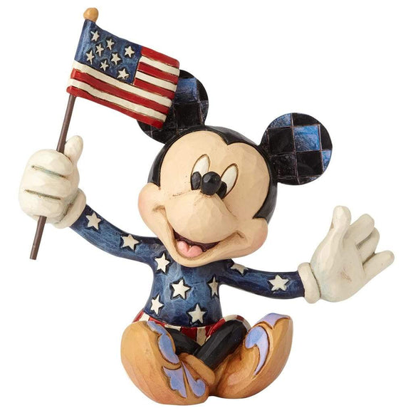 Disney Traditions by Jim Shore Patriotic Mickey Mouse Mini Figurine - Website Exclusive