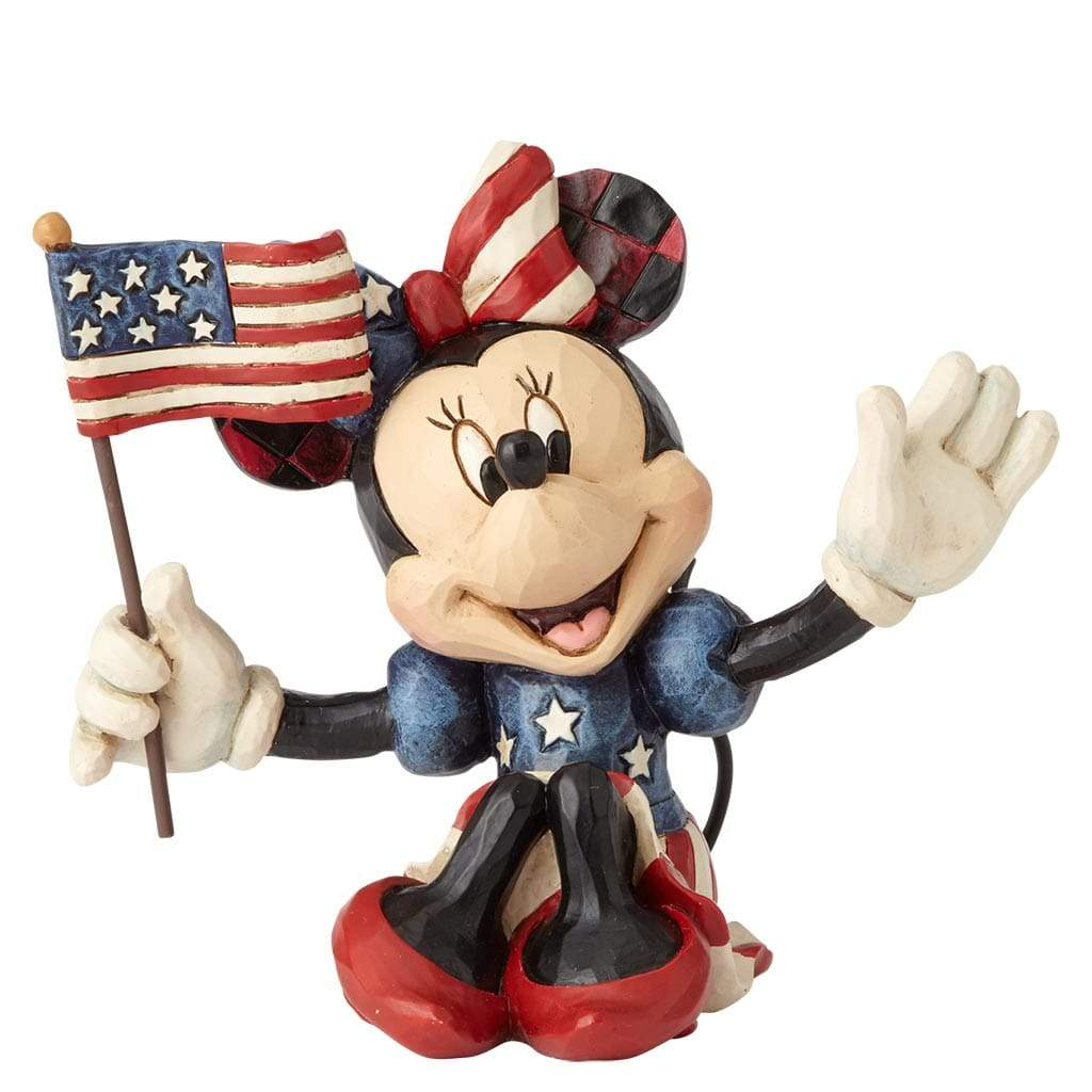 Disney Traditions by Jim shore Patriotic Minnie Mouse Mini Figurine - Website Exclusive