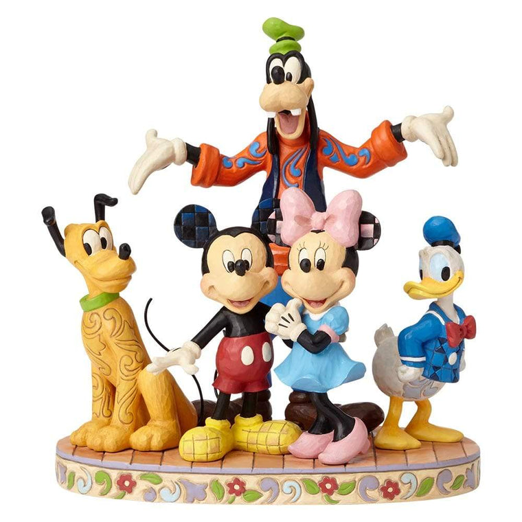 Disney Traditions by Jim Shore The Gang's All Here - Fab Five Figurine - UK & EIRE WEBSITE EXCLUSIVE