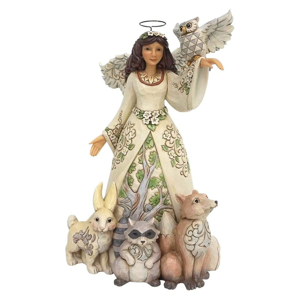 Heartwood Creek by Jim Shore Spring White Woodland Angel Figurine - Website Exclusive