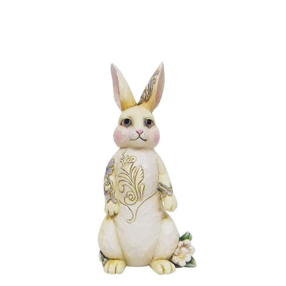 Heartwood Creek by Jim Shore White Woodland Bunny Mini Figurine