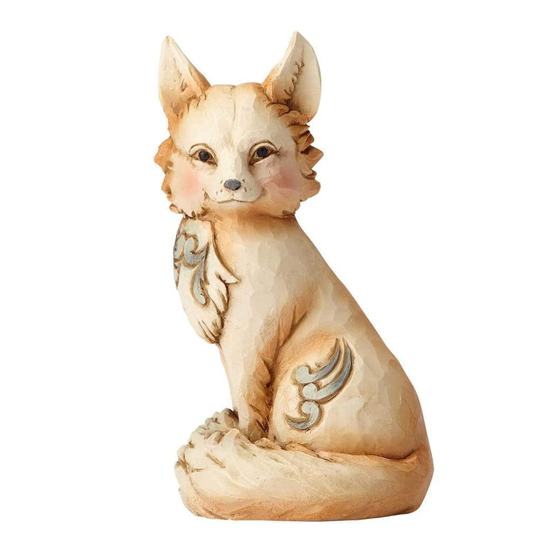 Heartwood Creek by Jim Shore White Woodland Fox Mini Figurine