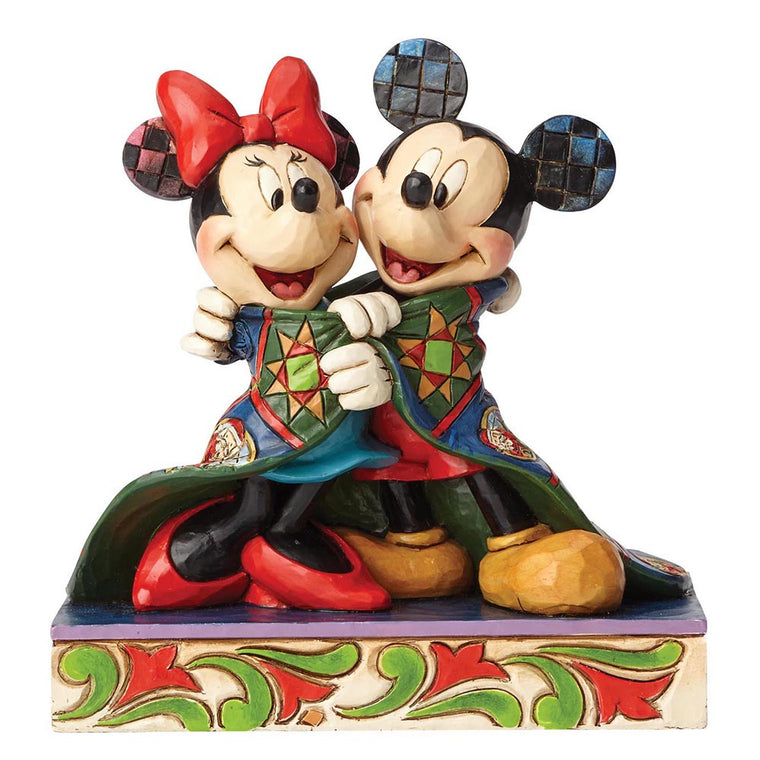 Disney Traditions by Jim Shore Warm Wishes - Mickey & Minnie Mouse Figurine