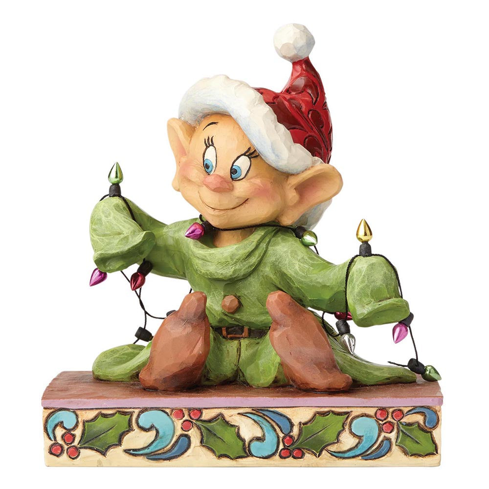 Disney Traditions by Jim Shore Light Up The Holidays - Dopey Figurine