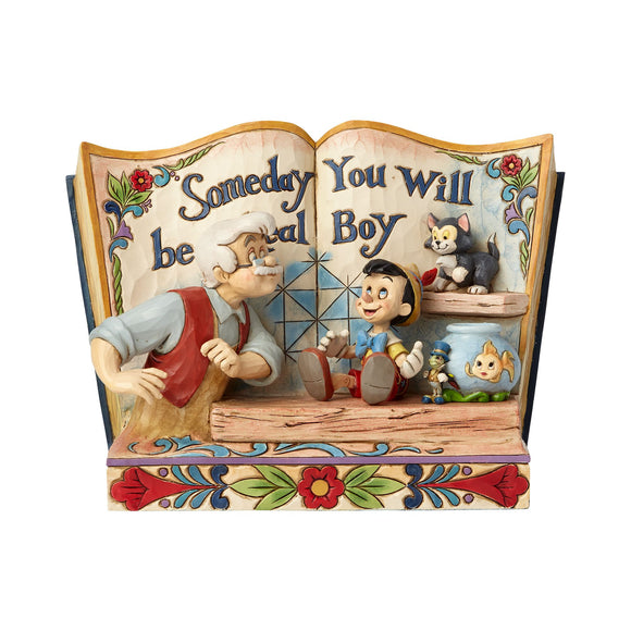 Someday You Will Be A Real Boy - Pinocchio Storybook Figurine - Disney Traditions by Jim Shore