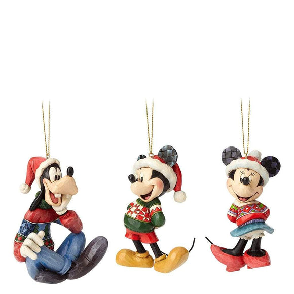 Disney Traditions by Jim Shore Mickey, Minnie and Goofy - Hanging Ornament - Website Exclusive