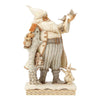 Heartwood Creek by Jim Shore White Woodland Santa with Birch House Figurine