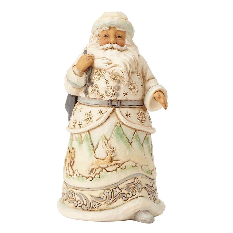Heartwood Creek by Jim Shore When The Ice Calls - White Woodland Santa Figurine