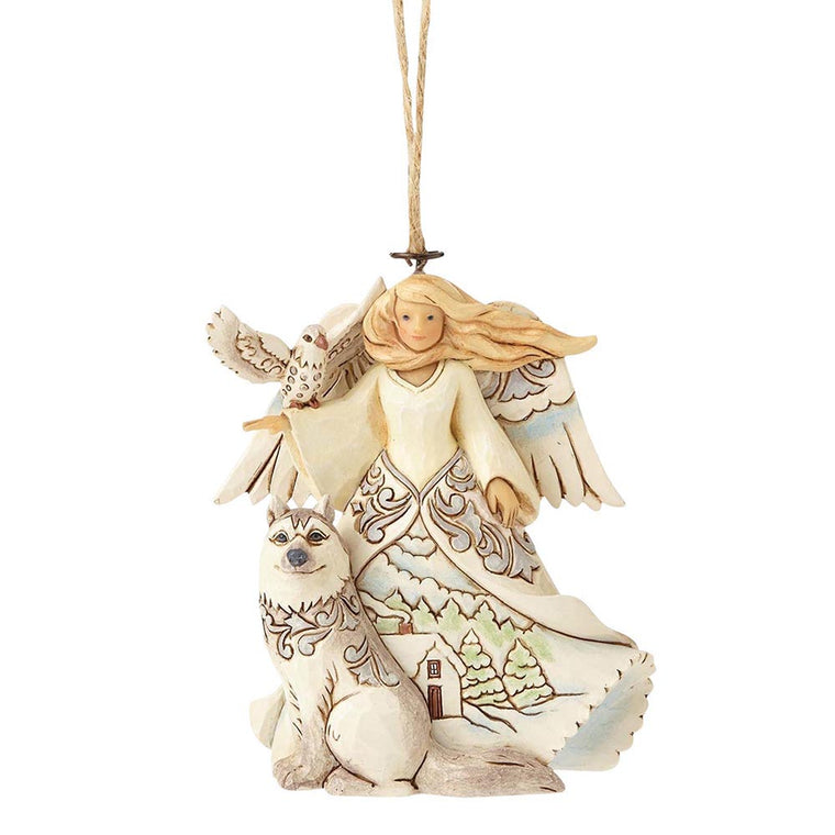 Heartwood Creek by Jim Shore White Woodland Angel - Hanging Ornament