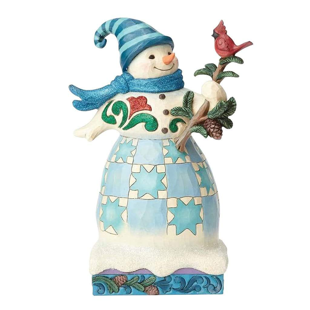 Heartwood Creek by Jim Shore Winter Woodland Snowman Cardinal Figurine - Website Exclusive