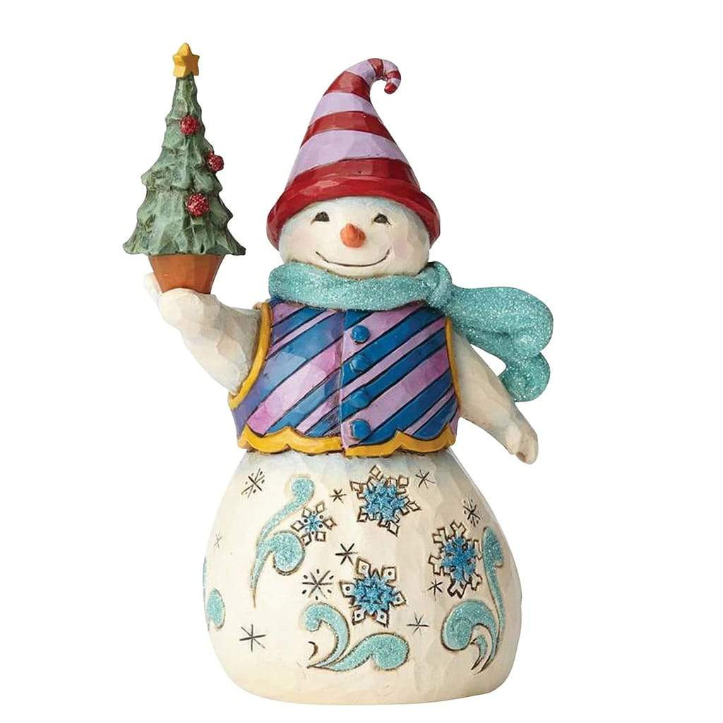 Heartwood Creek by Jim Shore Winter Wonderland Snowman with Tree Figurine - Website Exclusive