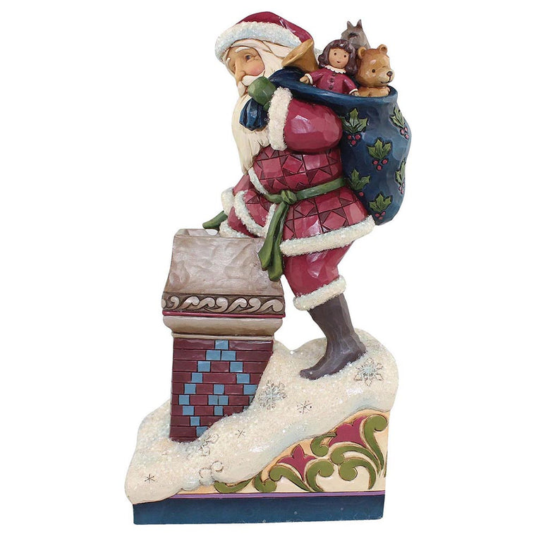 Heartwood Creek by Jim Shore Making Magic - Victorian Santa by Chimney Figurine
