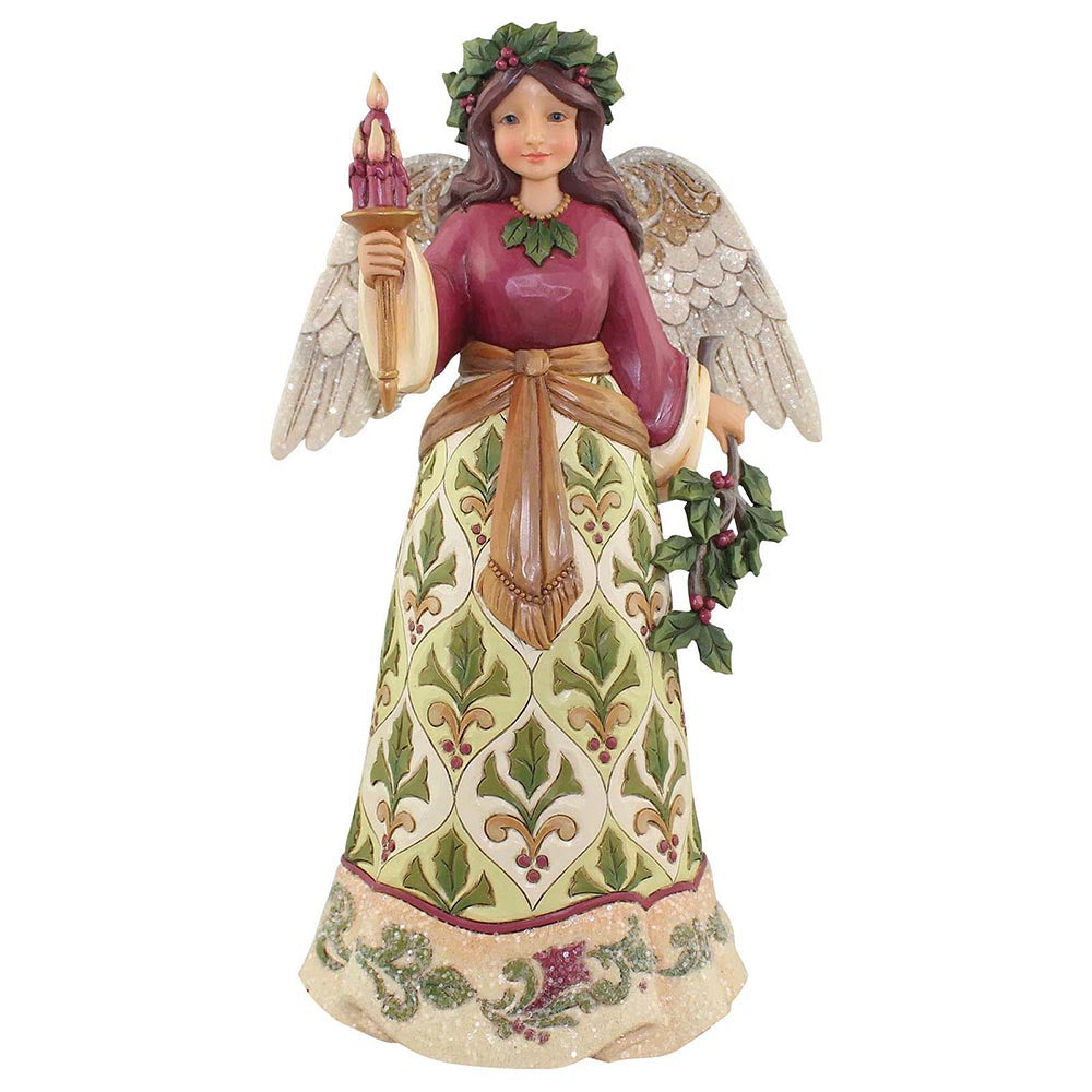 Heartwood Creek by Jim Shore Jolly Holly Days - Victorian Angel Figurine