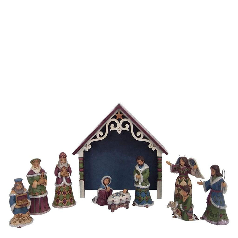Heartwood Creek by Jim Shore Victorian 10 Piece Mini Nativity - Website Exclusive