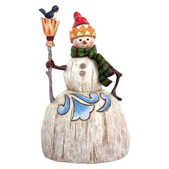 Heartwood Creek by Jim Shore Folklore Snowman with Broom Figurine