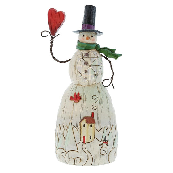Folklore Snowman With Heart Figurine by Jim Shore