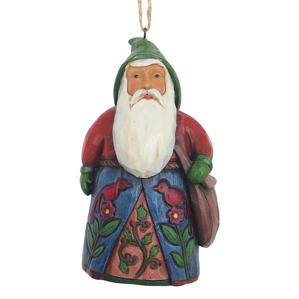 Heartwood Creek by Jim Shore Folklore Santa with Bag - Hanging Ornament