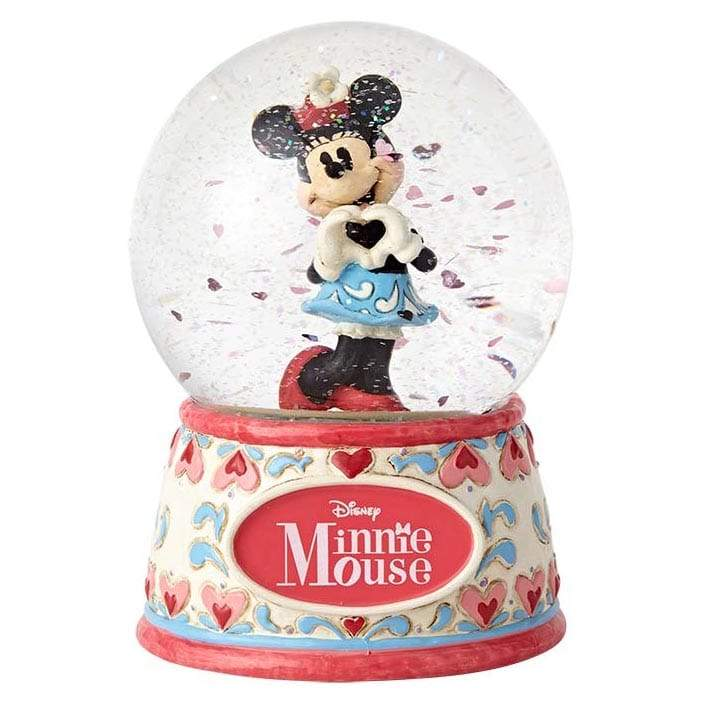 I Heart You - Minnie Mouse Waterball - Disney Traditions by Jim Shore